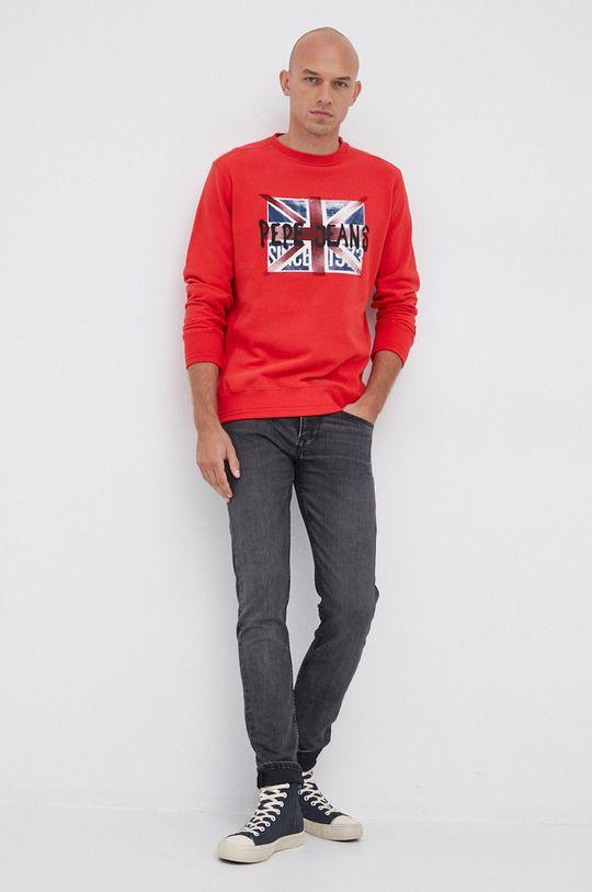 Pepe Jeans - Bluza bawełniana Jared czerwony