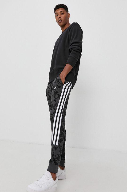 adidas Performance - Bavlněná mikina černá