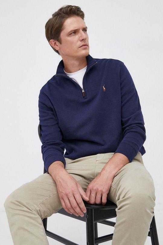 granatowy Polo Ralph Lauren - Sweter bawełniany Męski