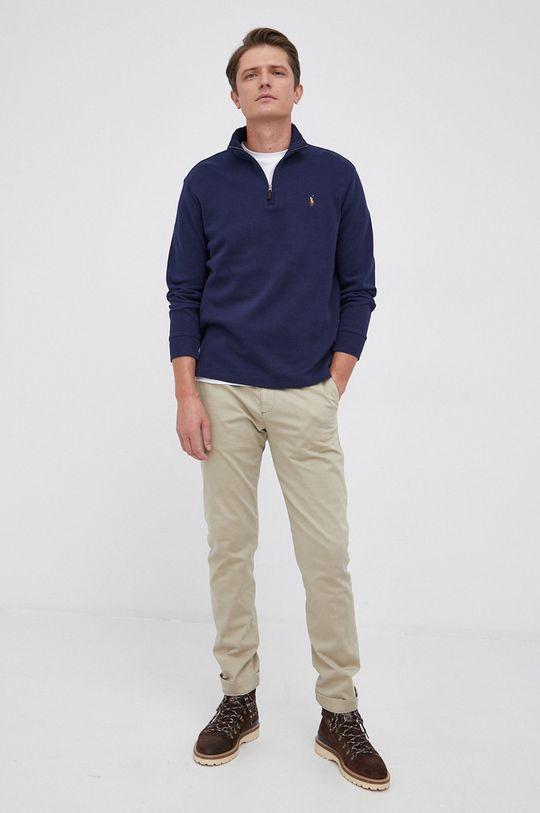 Polo Ralph Lauren - Sweter bawełniany granatowy