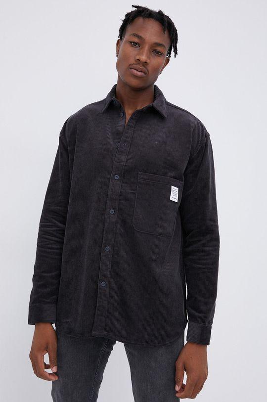 γκρί Dr. Denim - Βαμβακερό πουκάμισο Ανδρικά