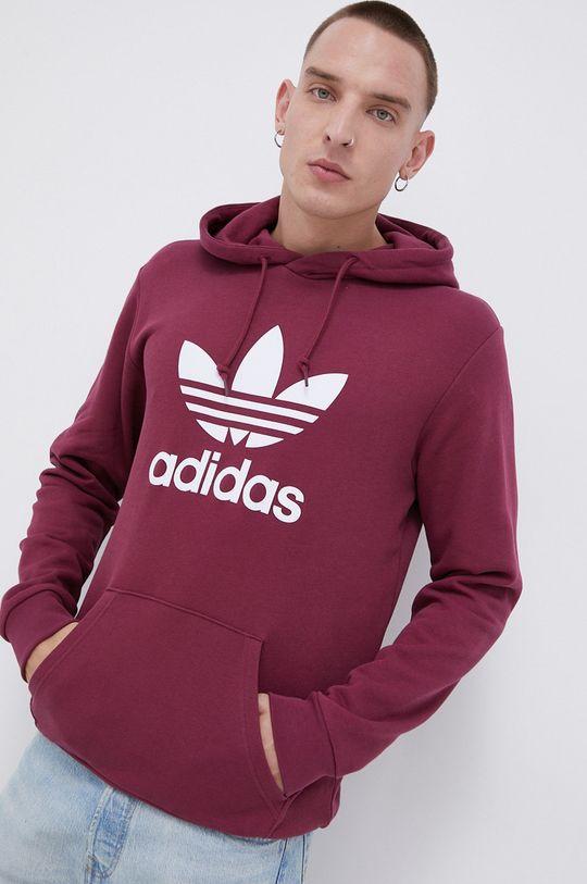 purpurowy adidas Originals - Bluza bawełniana Męski