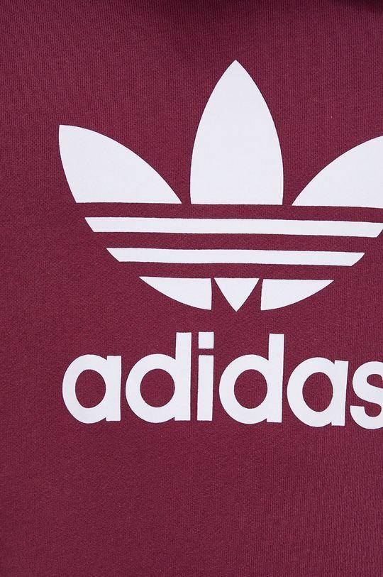 purpurowy adidas Originals - Bluza bawełniana