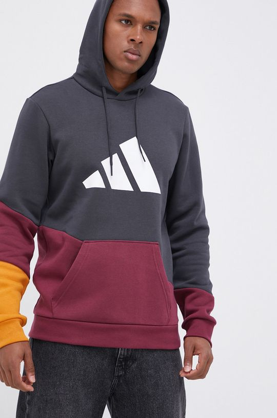 szary adidas Performance - Bluza