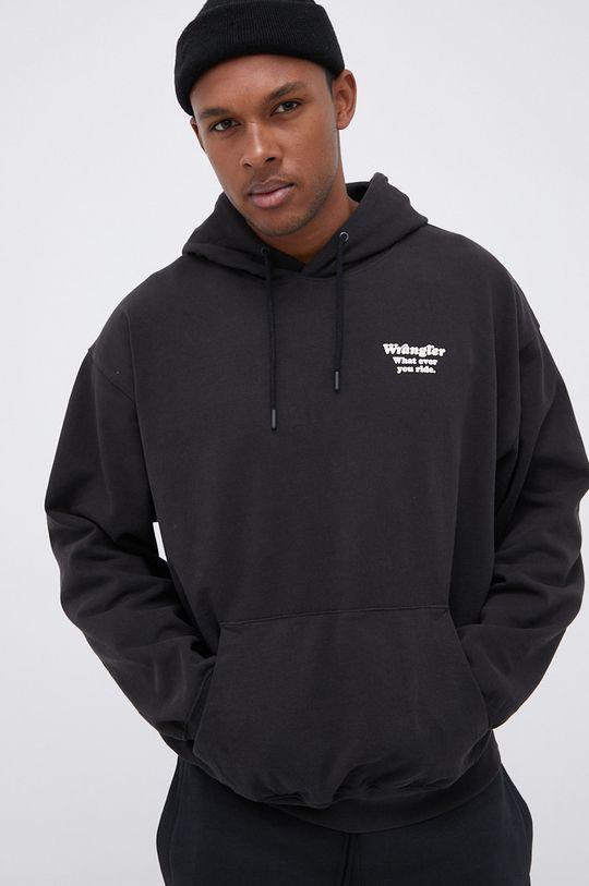 czarny Wrangler - Bluza bawełniana Męski