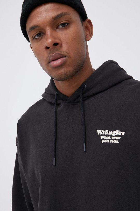 czarny Wrangler - Bluza bawełniana