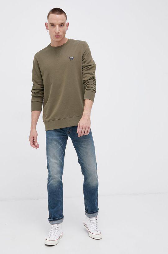 Wrangler - Bluza bawełniana zielony