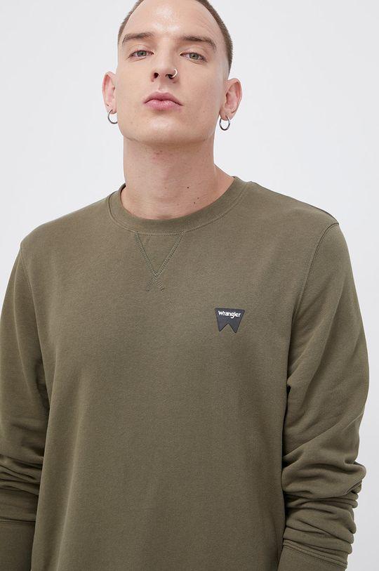 zielony Wrangler - Bluza bawełniana