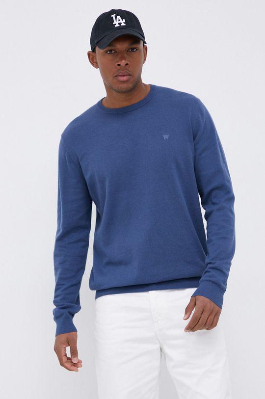 niebieski Wrangler - Sweter z domieszką wełny Męski