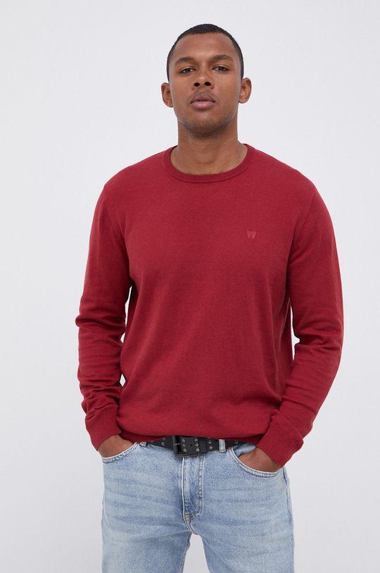 czerwony Wrangler - Sweter z domieszką wełny Męski