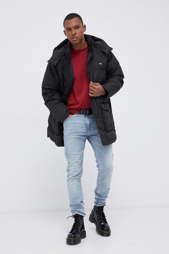 Wrangler - Sweter z domieszką wełny czerwony