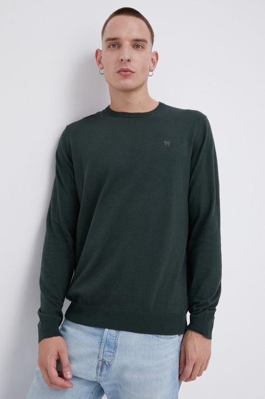 zielony Wrangler - Sweter z domieszką wełny Męski