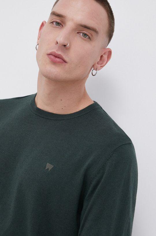 zielony Wrangler - Sweter z domieszką wełny