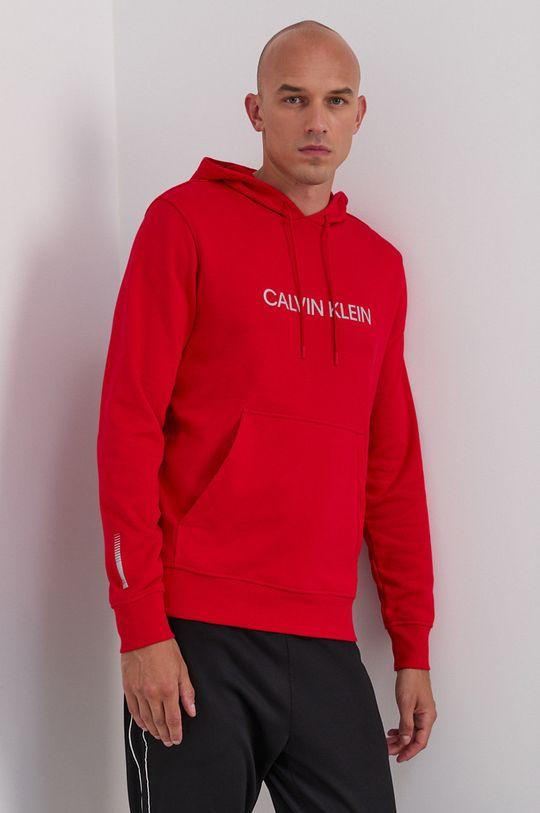 czerwony Calvin Klein Performance - Bluza Męski