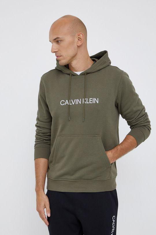 zielony Calvin Klein Performance - Bluza Męski