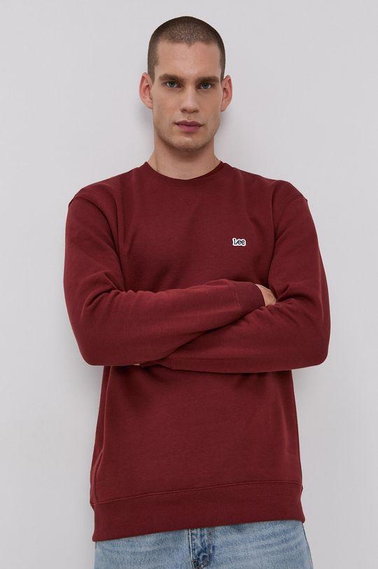 brązowy Lee - Bluza bawełniana Męski