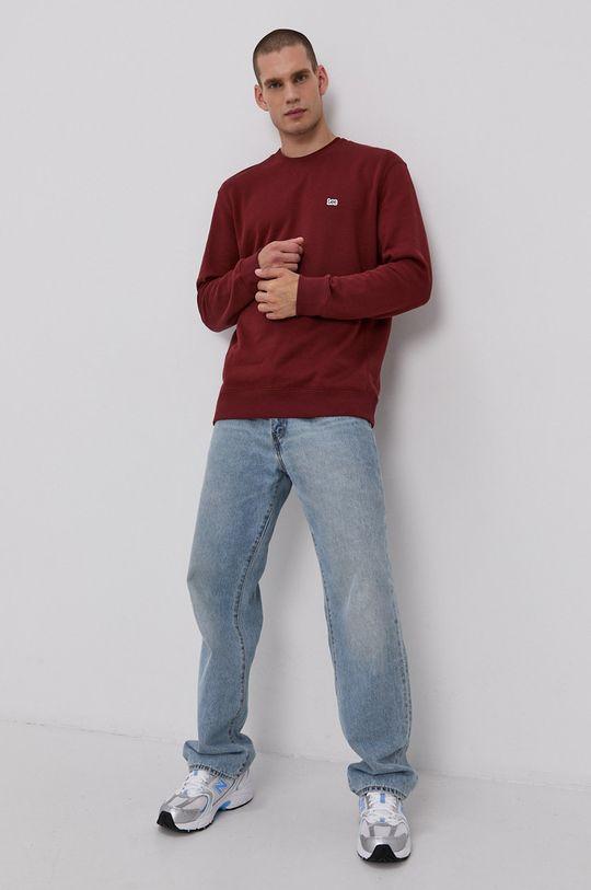 Lee - Bluza bawełniana brązowy