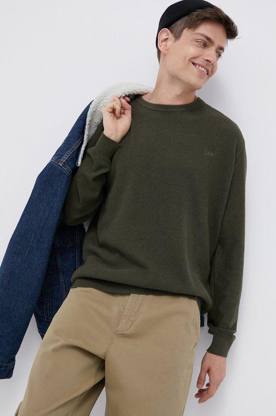 zielony Lee - Sweter bawełniany
