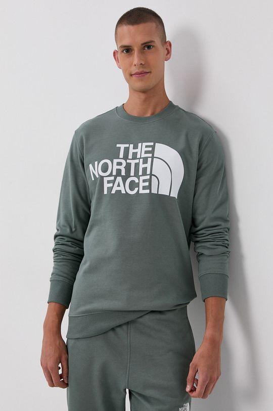 brudny zielony The North Face - Bluza bawełniana Męski