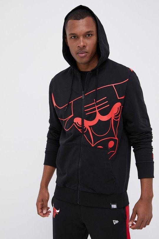 czarny New Era - Bluza bawełniana Męski