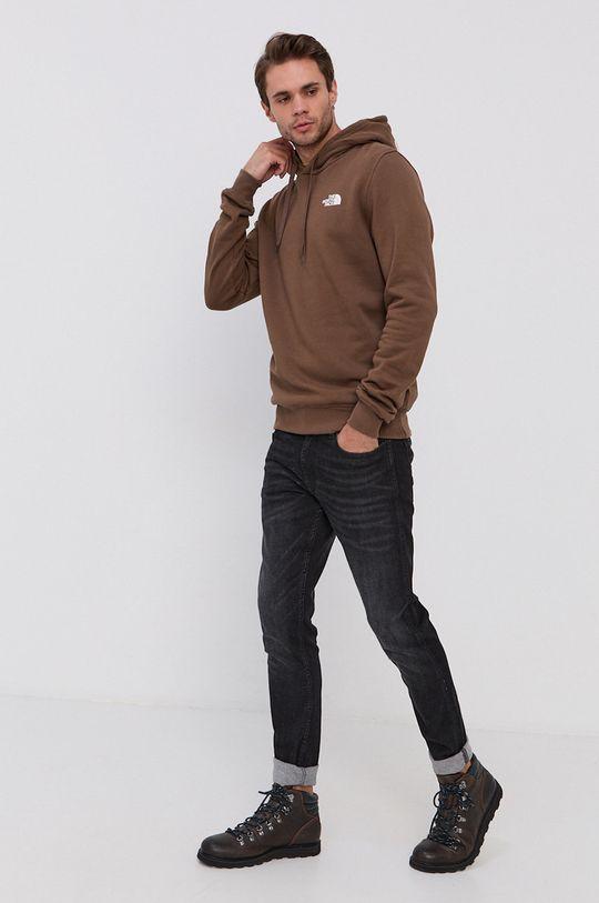 The North Face - Bluza bawełniana brązowy