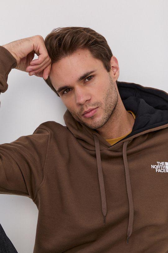 brązowy The North Face - Bluza bawełniana
