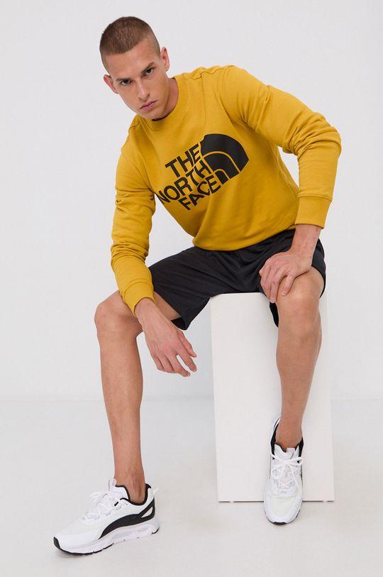 żółty The North Face - Bluza bawełniana Męski
