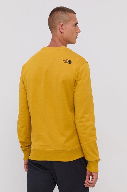 The North Face - Bluza bawełniana żółty