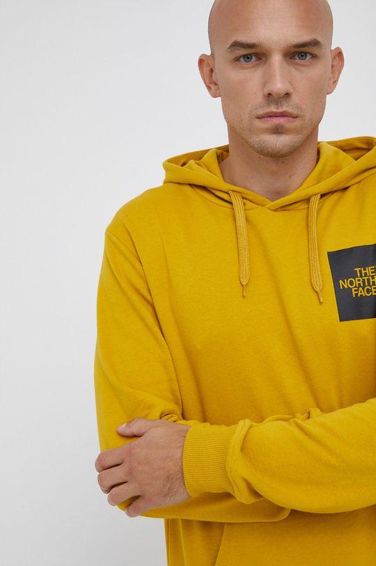 κίτρινο The North Face - Βαμβακερή μπλούζα Ανδρικά