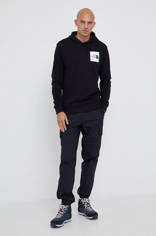 The North Face - Βαμβακερή μπλούζα μαύρο