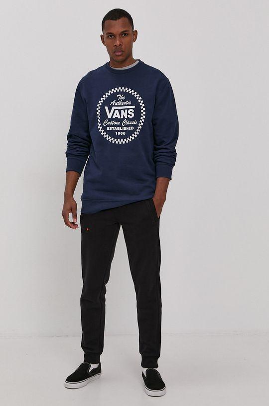 Vans - Bavlněná mikina námořnická modř