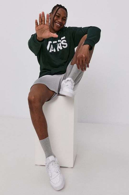 zelená Vans - Bavlněná mikina Pánský