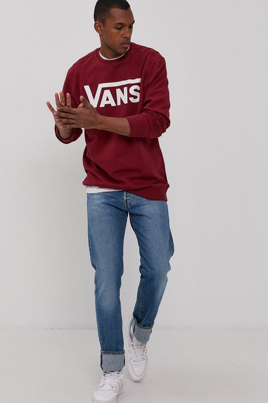 Vans - Bluza bawełniana kasztanowy