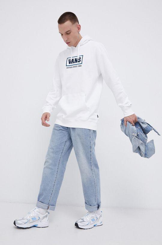 biały Vans - Bluza bawełniana Męski