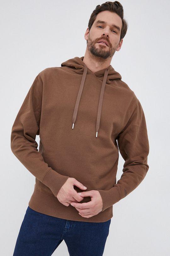 καφέ Drykorn - Βαμβακερή μπλούζα Bradley Ανδρικά