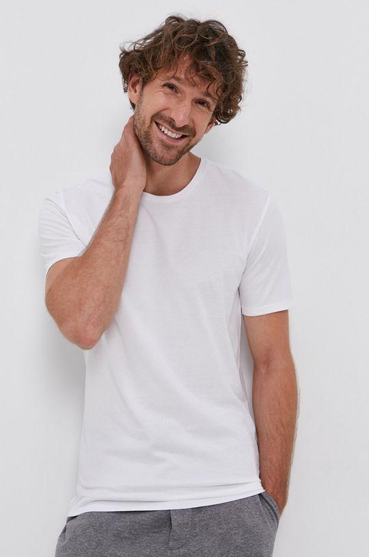biały Drykorn - T-shirt bawełniany Carlo Męski
