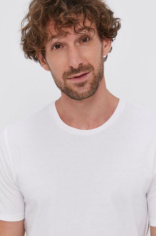biały Drykorn - T-shirt bawełniany Carlo