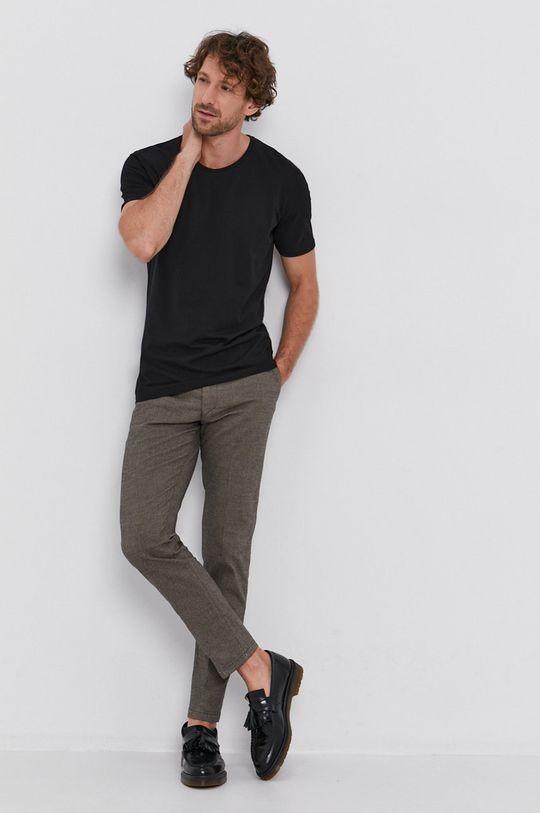 Drykorn - T-shirt bawełniany Carlo czarny