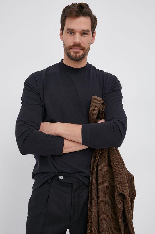μαύρο Drykorn - Βαμβακερό πουκάμισο με μακριά μανίκια Linus Ανδρικά