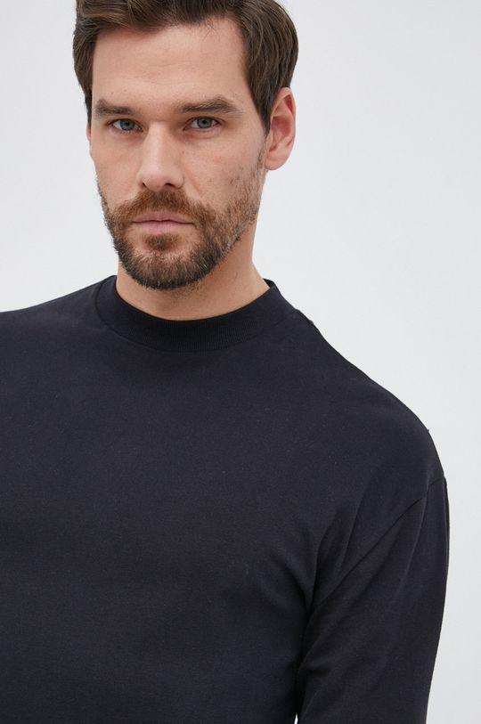 μαύρο Drykorn - Βαμβακερό πουκάμισο με μακριά μανίκια Linus