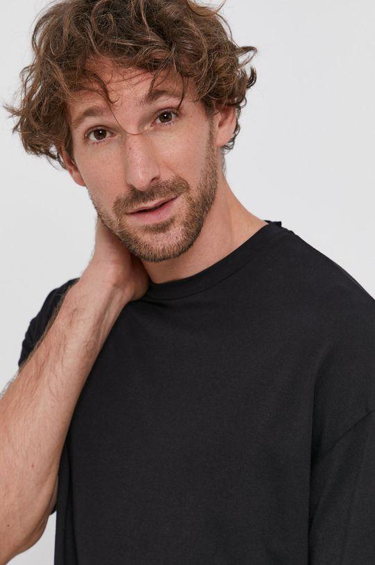 czarny Drykorn - T-shirt bawełniany Thilo
