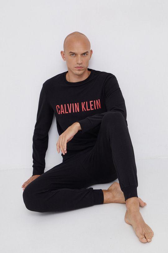 černá Calvin Klein Underwear - Pyžamové tričko s dlouhým rukávem Pánský