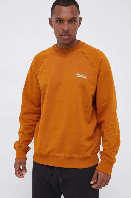 Dickies - Bluza bawełniana brązowy