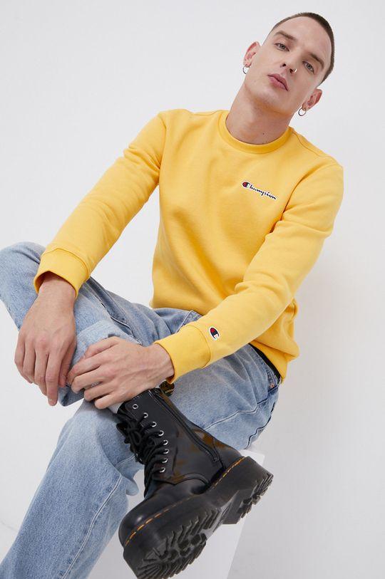 żółty Champion - Bluza Męski