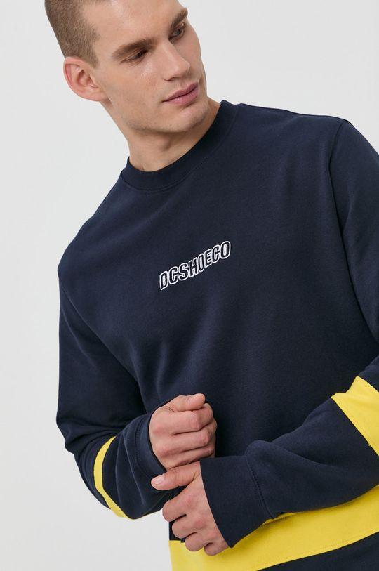 granatowy Dc - Bluza bawełniana Męski