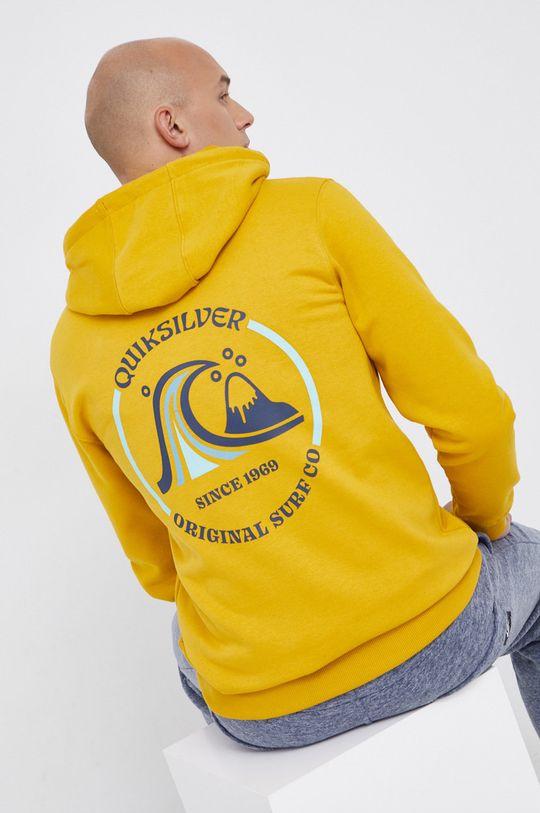 żółty Quiksilver - Bluza Męski