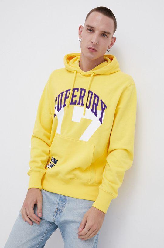 żółty Superdry - Bluza bawełniana Męski