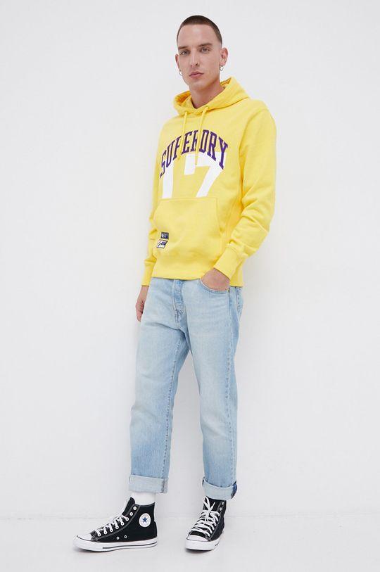 Superdry - Bluza bawełniana żółty