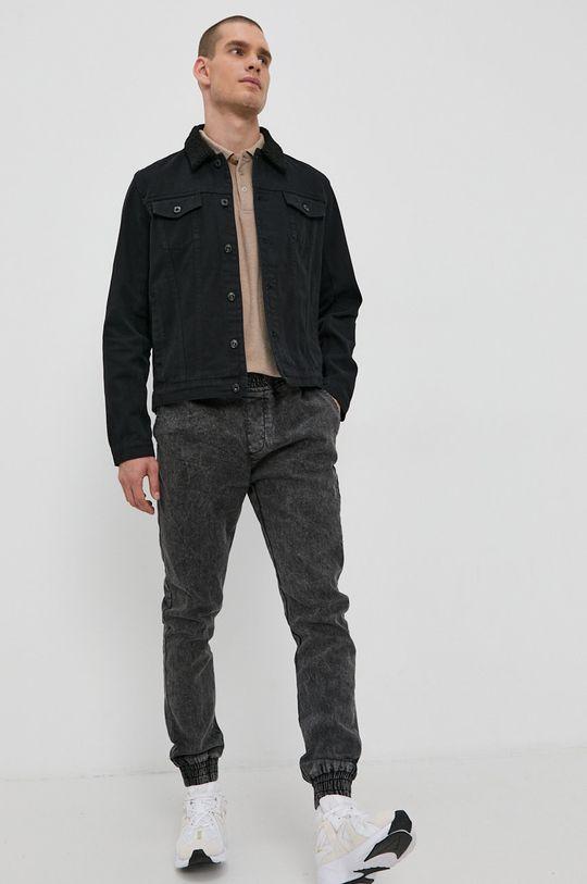 Solid - Kurtka jeansowa czarny