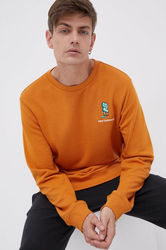 miedziany New Balance - Bluza bawełniana Męski